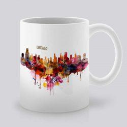 Сутрешната чаша кафе или чай става още по-приятна, с дизайнерската ни керамична чаша с щампа Гледка от Чикаго.