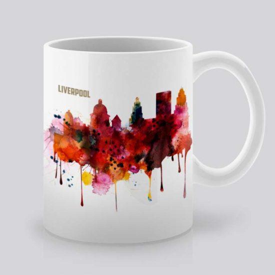 Сутрешната чаша кафе или чай става още по-приятна, с дизайнерската ни керамична чаша с щампа Гледка от Ливърпул.