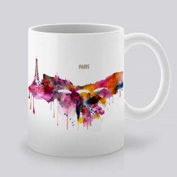 Качествена керамична чаша, с щампа Гледка от Париж, устойчива на високи температури. Може да се използва в микровълнови фурни и съдомиялни машини. Арт студио Artollo.bg предлага богата гама от дизайнерски продукти на супер цена!