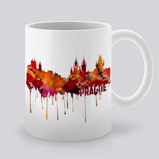 Сутрешната чаша кафе или чай става още по-приятна, с дизайнерската ни керамична чаша с щампа Гледка от Прага.