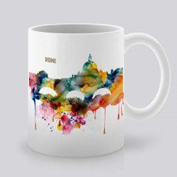 Качествена керамична чаша, с щампа Гледка от Рим, устойчива на високи температури. Може да се използва в микровълнови фурни и съдомиялни машини. Арт студио Artollo.bg предлага богата гама от дизайнерски продукти на супер цена!