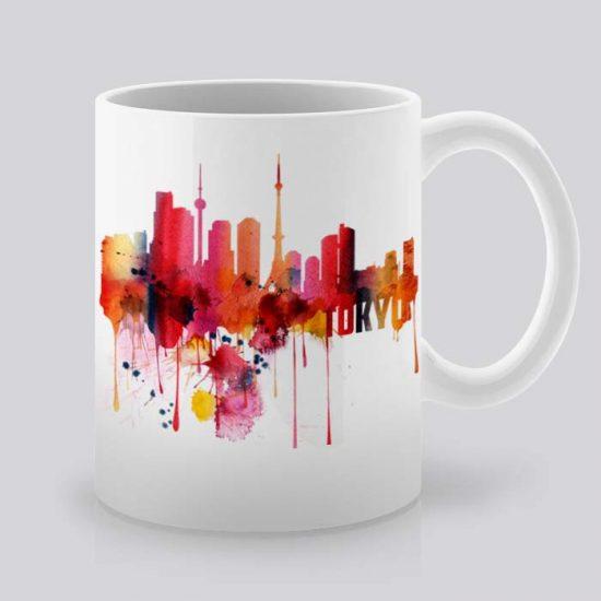 Сутрешната чаша кафе или чай става още по-приятна, с дизайнерската ни керамична чаша с щампа Гледка от Токио.