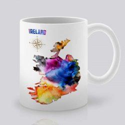 Сутрешната чаша кафе или чай става още по-приятна, с дизайнерската ни керамична чаша с щампа Ирландия.