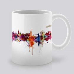 Сутрешната чаша кафе или чай става още по-приятна, с дизайнерската ни керамична чаша с щампа Изглед от Лондон.
