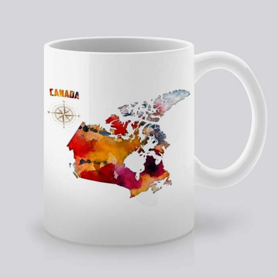 Сутрешната чаша кафе или чай става още по-приятна, с дизайнерската ни керамична чаша с щампа Канада.