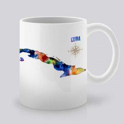 Сутрешната чаша кафе или чай става още по-приятна, с дизайнерската ни керамична чаша с щампа Куба.