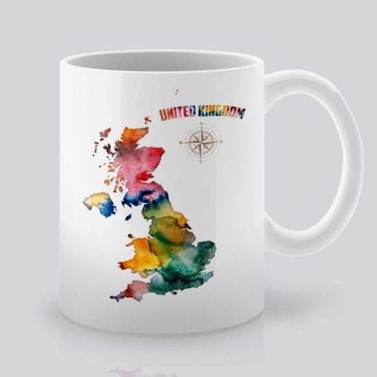 Сутрешната чаша кафе или чай става още по-приятна, с дизайнерската ни керамична чаша с щампа Обединеното кралство.