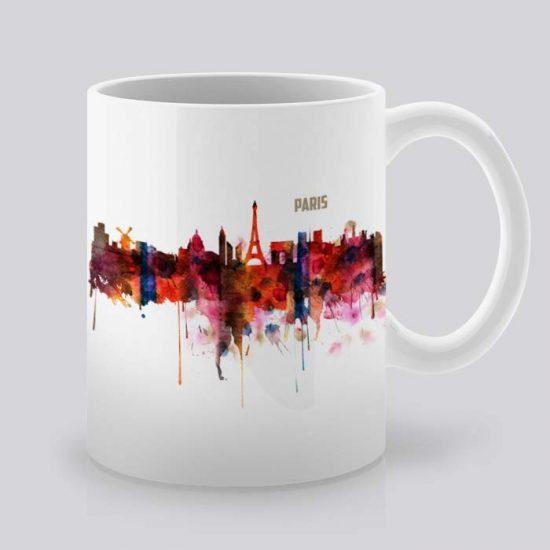 Сутрешната чаша кафе или чай става още по-приятна, с дизайнерската ни керамична чаша с щампа Париж.