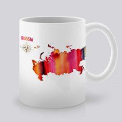 Сутрешната чаша кафе или чай става още по-приятна, с дизайнерската ни керамична чаша с щампа Русия.