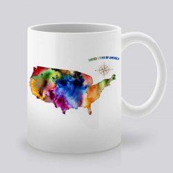 Сутрешната чаша кафе или чай става още по-приятна, с дизайнерската ни керамична чаша с щампа САЩ.