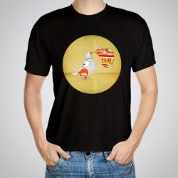Мъжка тениска Гълъб e изработена от висококачествен памук с ярки цветове и прецизен детайл – сякаш някой е рисувал с четка и бои върху плата.