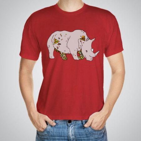 Мъжка тениска Готин носорог e изработена от висококачествен памук с ярки цветове и прецизен детайл – сякаш някой е рисувал с четка и бои върху плата.