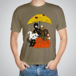 Мъжка тениска Котките e изработена от висококачествен памук с ярки цветове и прецизен детайл – сякаш някой е рисувал с четка и бои върху плата.