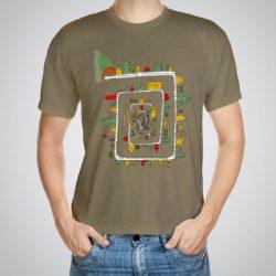 Мъжка тениска Лабиринт e изработена от висококачествен памук с ярки цветове и прецизен детайл – сякаш някой е рисувал с четка и бои върху плата.