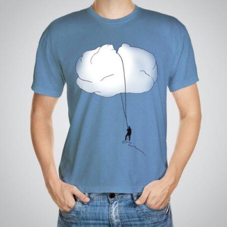 Мъжка тениска Облак e изработена от висококачествен памук с ярки цветове и прецизен детайл – сякаш някой е рисувал с четка и бои върху плата.