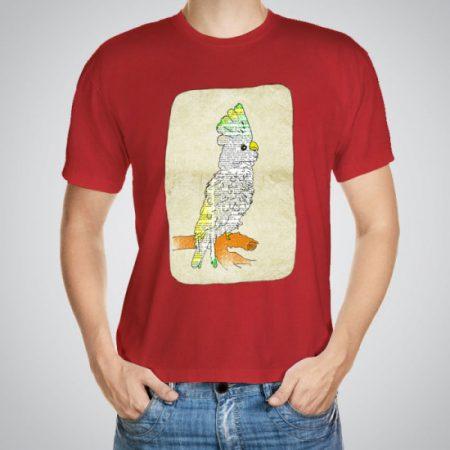 Мъжка тениска Папагал e изработена от висококачествен памук с ярки цветове и прецизен детайл – сякаш някой е рисувал с четка и бои върху плата.