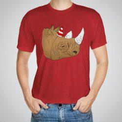 Мъжка тениска Парти носорог e изработена от висококачествен памук с ярки цветове и прецизен детайл – сякаш някой е рисувал с четка и бои върху плата.