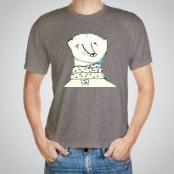 Мъжка тениска Полярна мечка e изработена от висококачествен памук с ярки цветове и прецизен детайл – сякаш някой е рисувал с четка и бои върху плата.