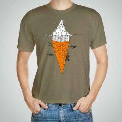 Мъжка тениска Сладолед e изработена от висококачествен памук с ярки цветове и прецизен детайл – сякаш някой е рисувал с четка и бои върху плата.