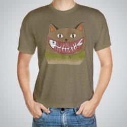 Мъжка тениска Усмивка e изработена от висококачествен памук с ярки цветове и прецизен детайл – сякаш някой е рисувал с четка и бои върху плата.