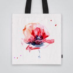 Модерна чанта от плат Акварелно цвете се шие индивидуално за вас - лека, сгъваема, разпознаваема дамска чанта или удобна чанта за пазар.