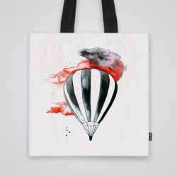 Дизайнерска чанта от плат Червено небе се шие индивидуално за вас - лека, сгъваема, разпознаваема дамска чанта или удобна чанта за пазар.