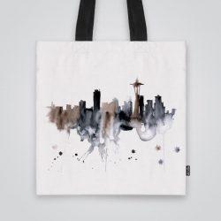 Дизайнерската чанта от плат Гледка от Вашингтон е ушита индивидуално за вас - лека, сгъваема, разпознаваема дамска чанта или удобна чанта за пазар.