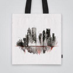 Дизайнерска чанта от плат Градски светлини се шие индивидуално за вас - лека, сгъваема, разпознаваема дамска чанта или удобна чанта за пазар.