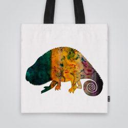 Модерна чанта от плат Хамелеон се шие индивидуално за вас - лека, сгъваема, разпознаваема дамска чанта или удобна чанта за пазар.