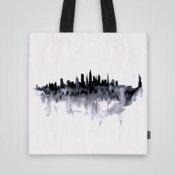 Дизайнерската чанта от плат Нощен Ню Йорк е ушита индивидуално за вас - лека, сгъваема, разпознаваема дамска чанта или удобна чанта за пазар.