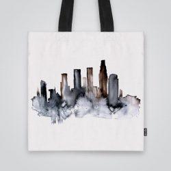 Дизайнерската чанта от плат Нощни сенки е ушита индивидуално за вас - лека, сгъваема, разпознаваема дамска чанта или удобна чанта за пазар.