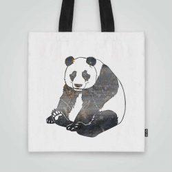 Дизайнерска чанта от плат Панда се шие индивидуално за вас - лека, сгъваема, разпознаваема дамска чанта или удобна чанта за пазар.