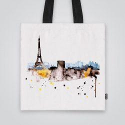 Дизайнерската чанта от плат Париж е ушита индивидуално за вас - лека, сгъваема, разпознаваема дамска чанта или удобна чанта за пазар.
