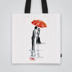 Дизайнерска чанта от плат Първата целувка се шие индивидуално за вас - лека, сгъваема, разпознаваема дамска чанта или удобна чанта за пазар.