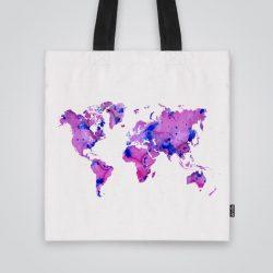 Дизайнерска чанта от плат Розов свят се шие индивидуално за вас - лека, сгъваема, разпознаваема дамска чанта или удобна чанта за пазар.