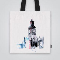Дизайнерската чанта от плат с Биг Бен е ушита индивидуално за вас - лека, сгъваема, разпознаваема дамска чанта или удобна чанта за пазар.