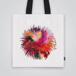 Дизайнерска чанта от плат с принт Риба фугу се шие индивидуално за вас - лека, сгъваема, разпознаваема дамска чанта или удобна чанта за пазар.