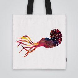 Дизайнерска чанта от плат с принт Сепия се шие индивидуално за вас - лека, сгъваема, разпознаваема дамска чанта или удобна чанта за пазар.
