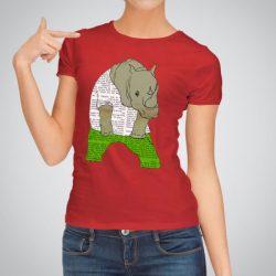 Дамска тениска Зелени Дънки е изработена от висококачествен памук и последно поколение технология за печат. Цветовете са ярки и наситени, сякаш някой е рисувал върху тениската.