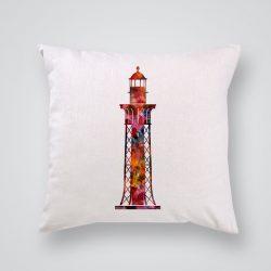 Декоративна калъфка Червен морски фар е изработена от качествен текстил в натурален бял цвят, с щампа от едната страна и скрит цип за лесна поддръжка. Калъфката е ушита ръчно и с грижа, печатът е безопасен, с нетоксични мастила и трайни цветове.