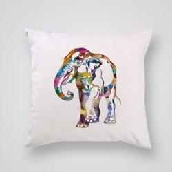Декоративна калъфка Цветен слон е изработена от качествен текстил в натурален бял цвят, с щампа от едната страна и скрит цип за лесна поддръжка. Калъфката е ушита ръчно и с грижа, печатът е безопасен, с нетоксични мастила и трайни цветове.