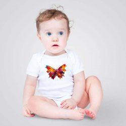 Искате бебето ви да се чувства удобно и щастливо по всяко време? Нашето уникално арт бебешко боди, с щампа Голяма цветна пеперуда, ще му даде комфорта, който заслужава.