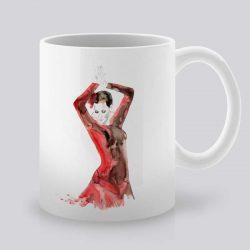 Сутрешната чаша кафе или чай става още по-приятна, с дизайнерската ни керамична чаша с щампа Фламенко.
