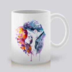 Сутрешната чаша кафе или чай става още по-приятна, с дизайнерската ни керамична чаша с щампа Здрач.