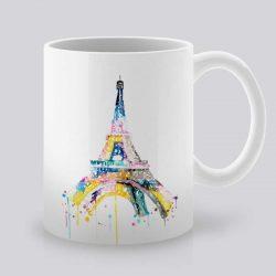 Сутрешната чаша кафе или чай става още по-приятна, с дизайнерската ни керамична чаша с щампа Айфеловата кула.
