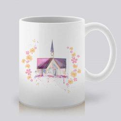 Сутрешната чаша кафе или чай става още по-приятна, с дизайнерската ни керамична чаша с щампа Сватбен Параклис.