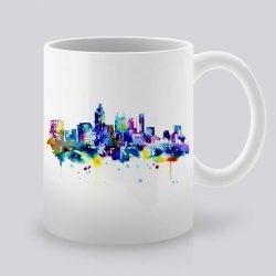 Сутрешната чаша кафе или чай става още по-приятна, с дизайнерската ни керамична чаша с щампа Атланта.