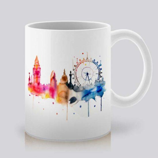 Сутрешната чаша кафе или чай става още по-приятна, с дизайнерската ни керамична чаша с щампа Биг Бен.