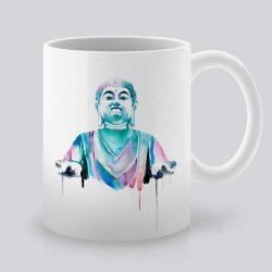 Сутрешната чаша кафе или чай става още по-приятна, с дизайнерската ни керамична чаша с щампа Будда.