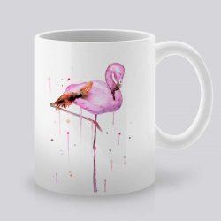 Сутрешната чаша кафе или чай става още по-приятна, с дизайнерската ни керамична чаша с щампа Фламинго.